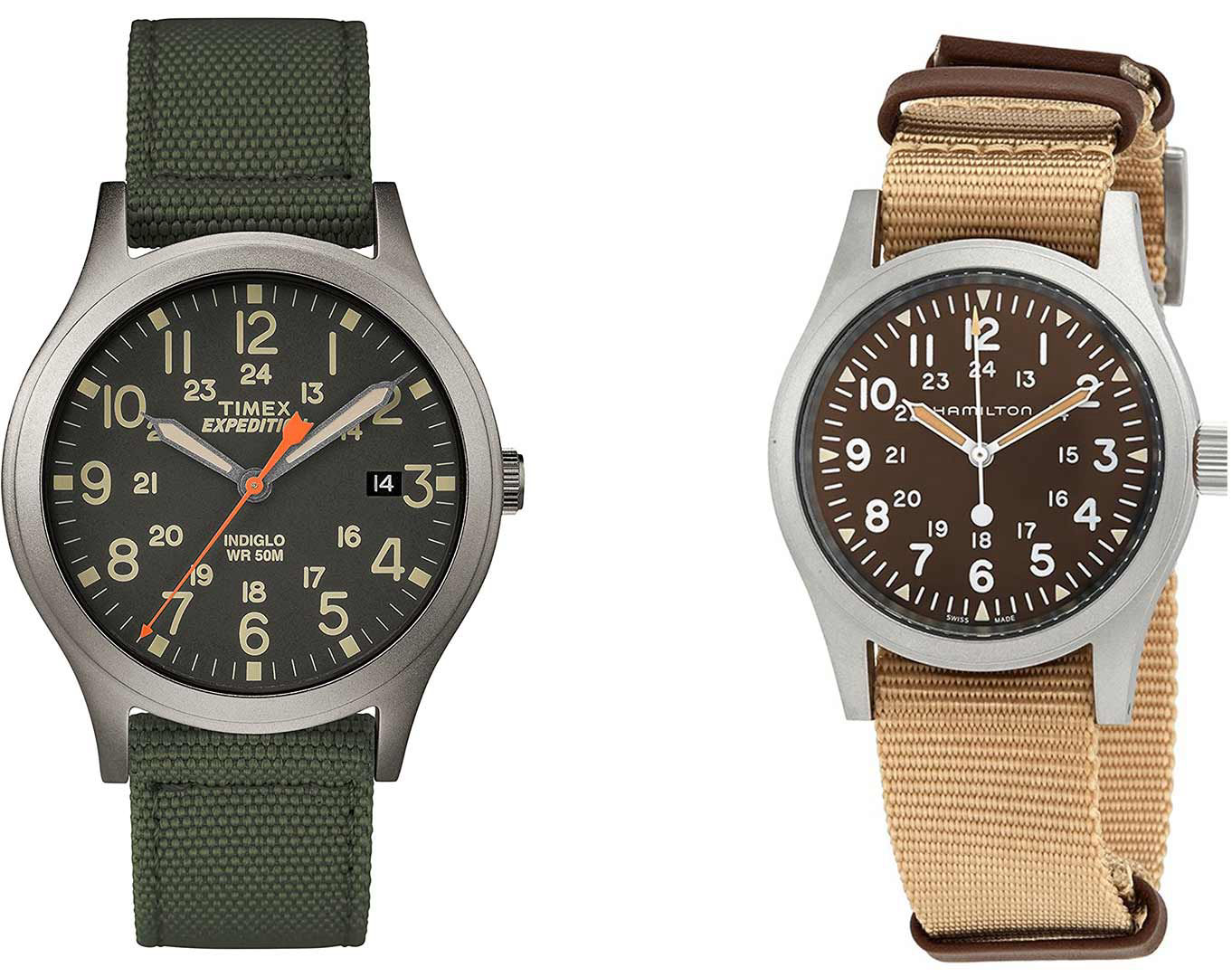 Timex Expedition και Hamilton Khaki Field